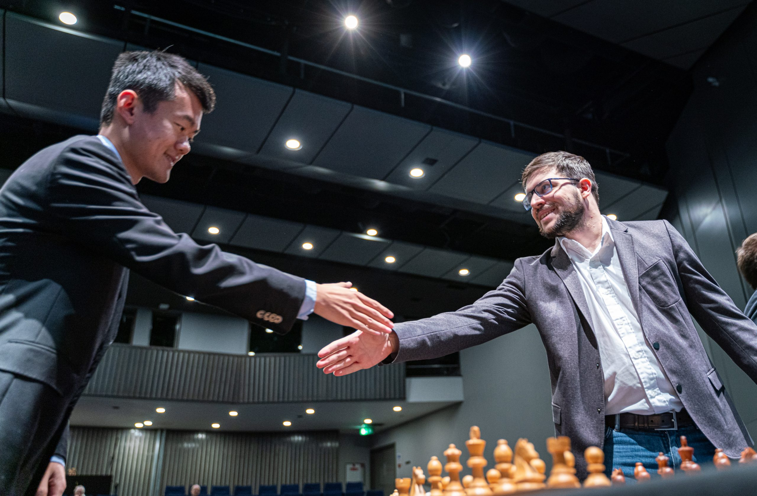 When the duel is about to start! | Image courtesy of Grand Chess Tour