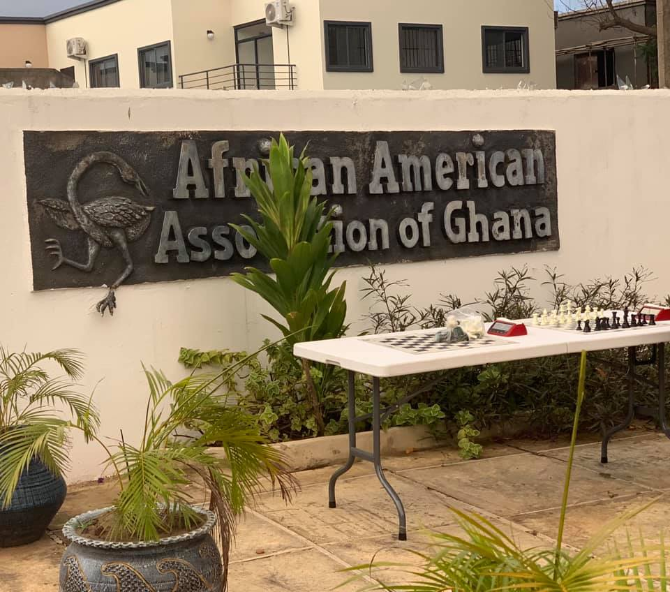 An incredible welcome by the African-American Association of Ghana