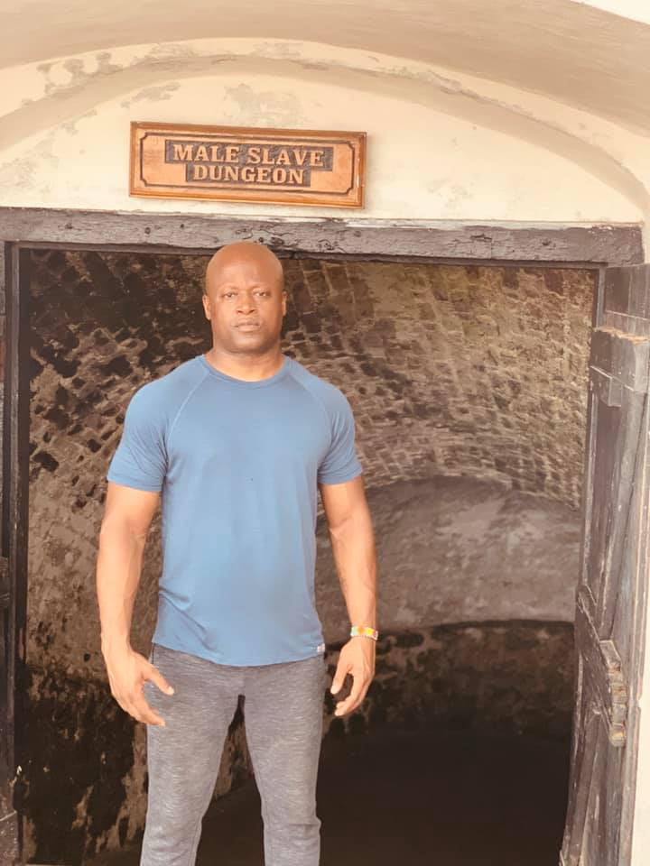 Visiting the slave castle at Elmina, a reminder of how much I have benefited from the struggle of our ancestors.